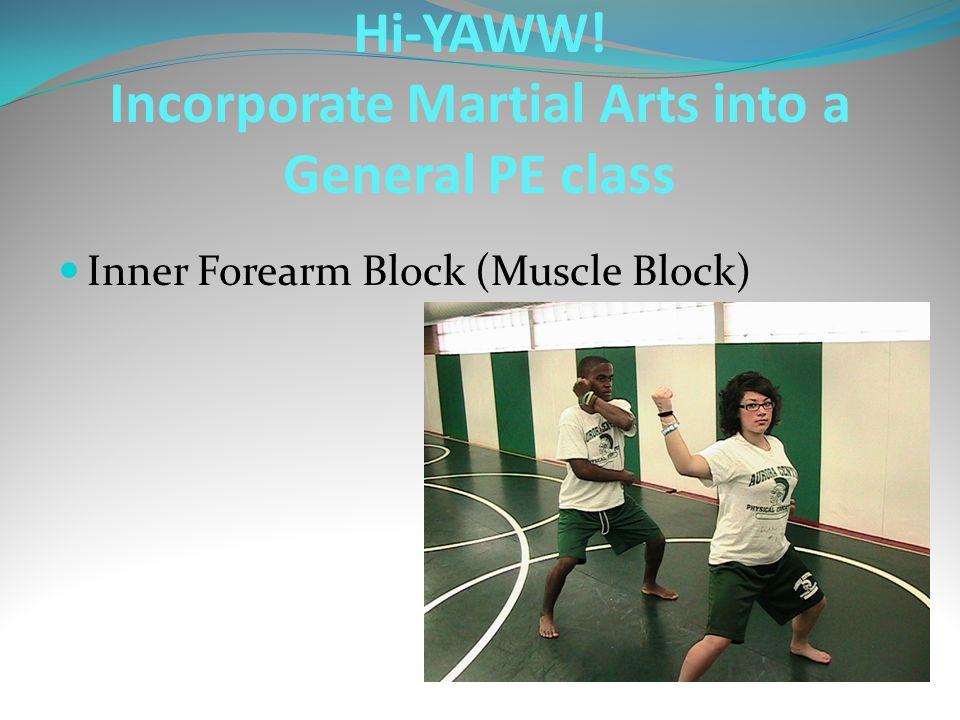 Inner Forearm Block (Muscle Block) Hi-YAWW! Incorporate Martial Arts into a General PE class