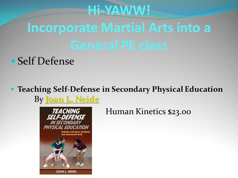 Self Defense Joan L. Neide Joan L. Neide Teaching Self-Defense in Secondary Physical Education By Joan L. NeideJoan L. Neide Human Kinetics $23.00 Hi-