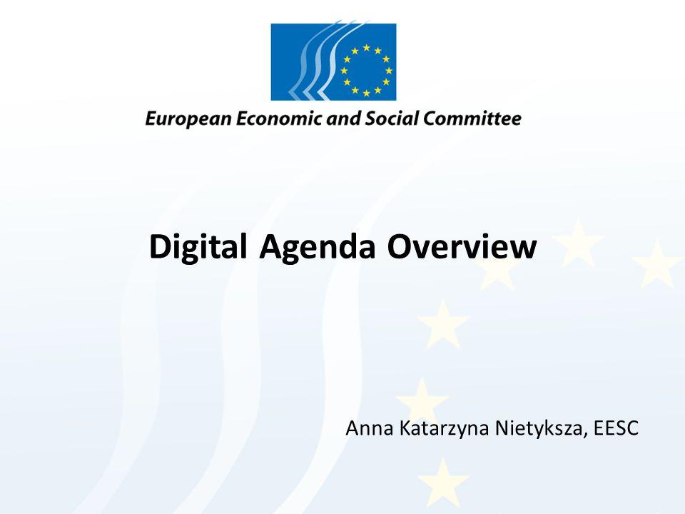 Digital Agenda Overview Anna Katarzyna Nietyksza, EESC