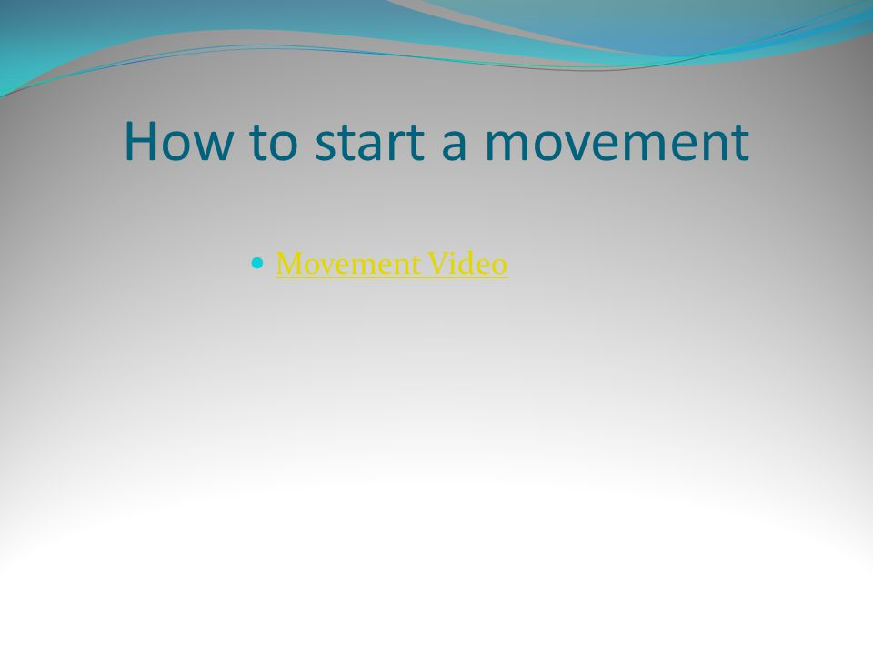 Movement Video