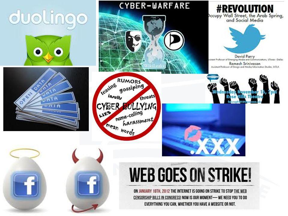 The Web space is: o Everywhere o Controversial o Contradictory o Unusual o Complex o Dynamic