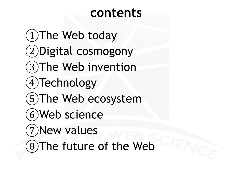 Two magics of Web Science 27 Web & Philosophy