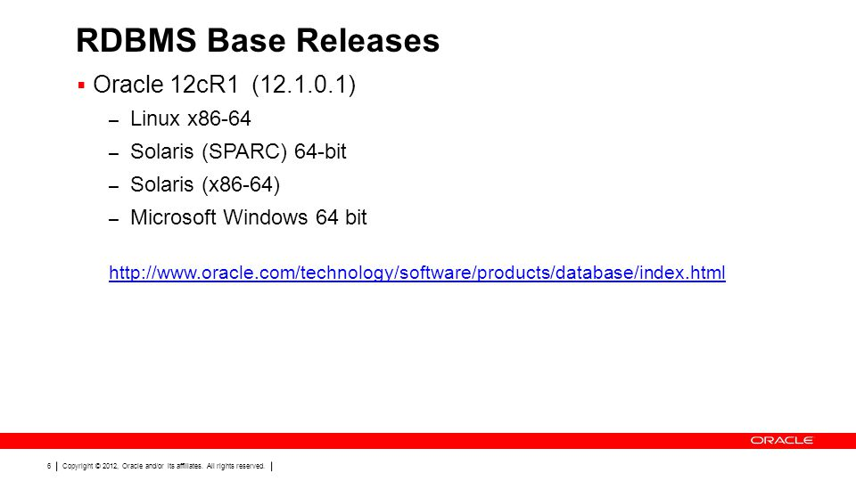 Copyright © 2012, Oracle and/or its affiliates. All rights reserved. 47