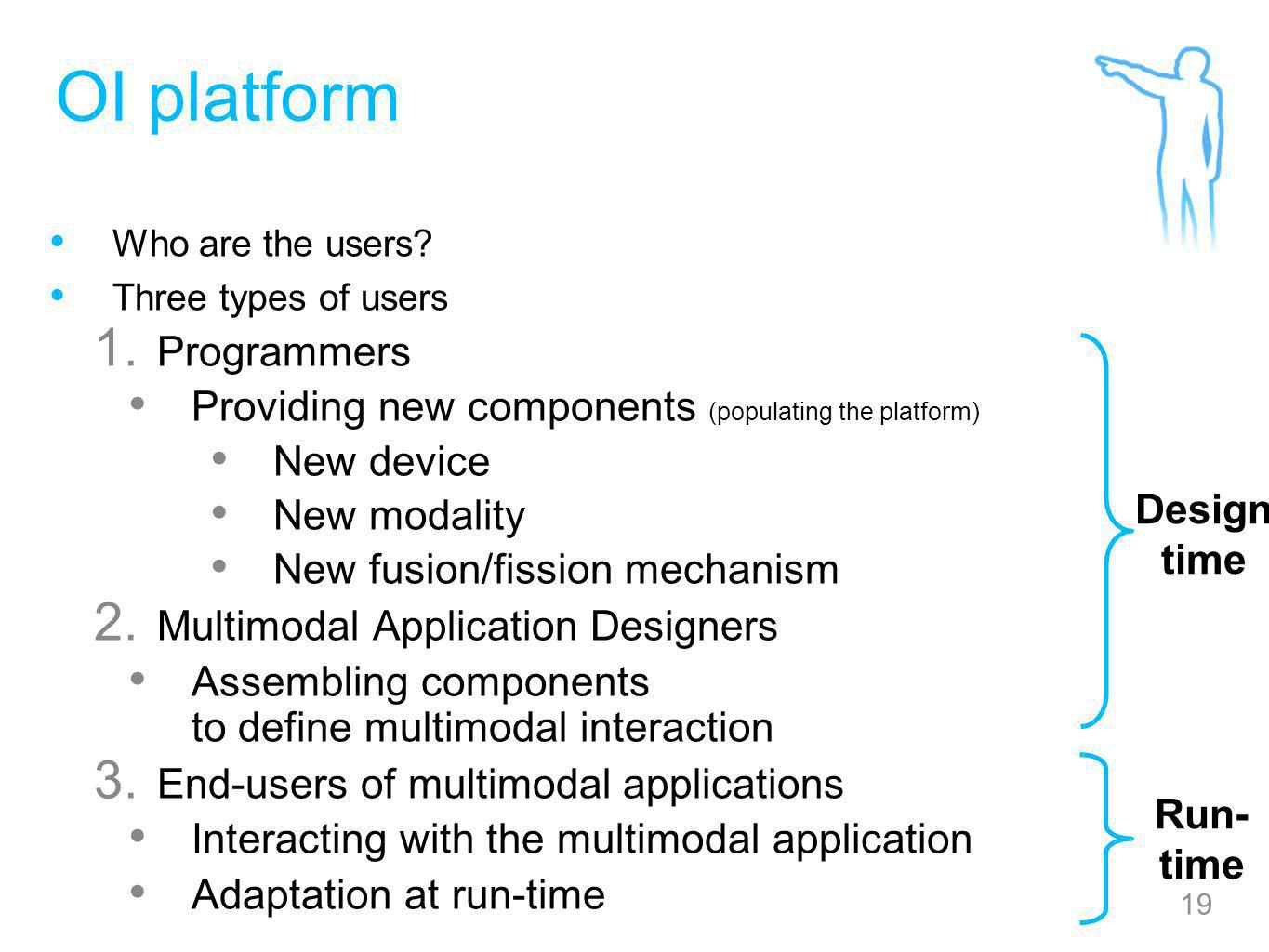 19 OI platform Who are the users. Three types of users 1.