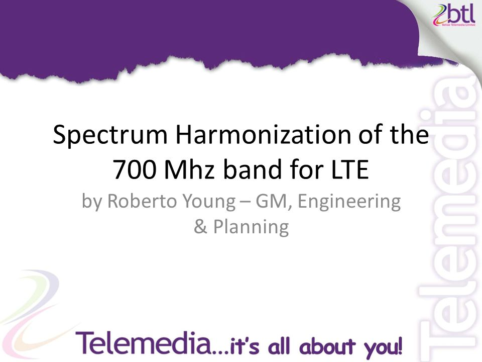 Belize Telemedia Limited.Roadmap to LTE.LTE 700 Mhz Options.Regulatory Collaboration.Way Forward
