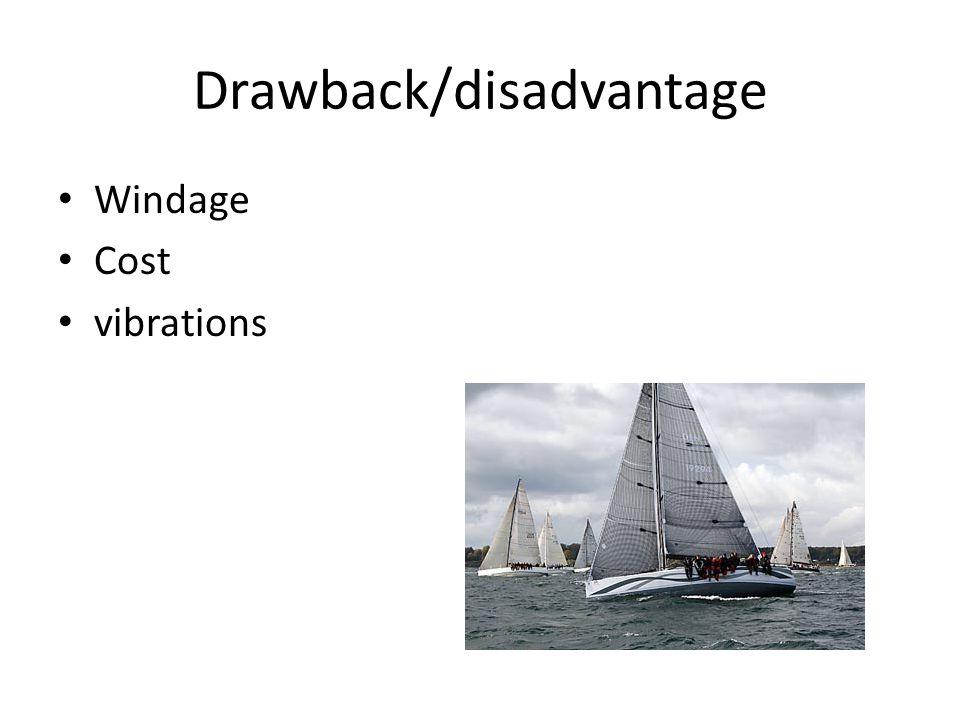 Drawback/disadvantage Windage Cost vibrations