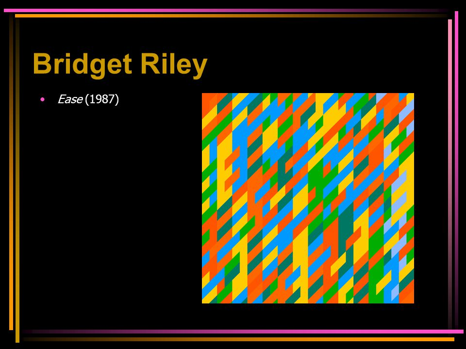 Ease (1987) Bridget Riley