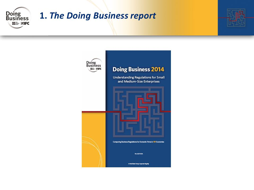 1. The Doing Business report