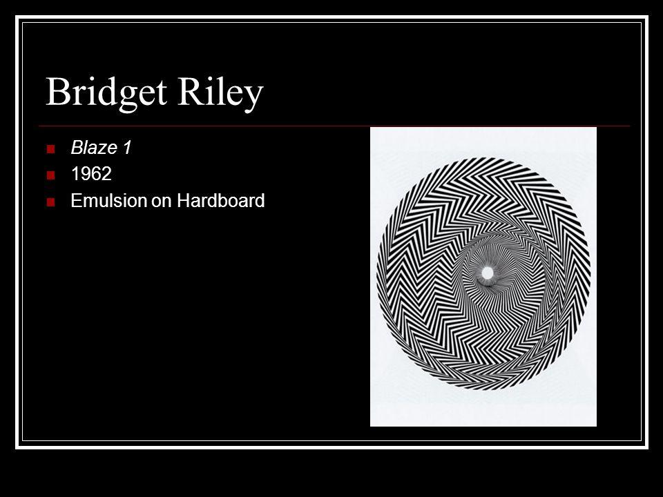 Bridget Riley Blaze 1 1962 Emulsion on Hardboard