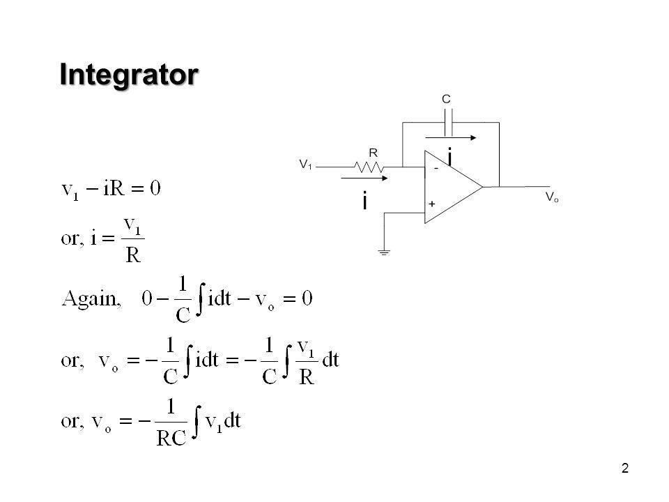 2 i i Integrator