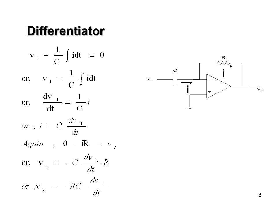 3 Differentiator i i