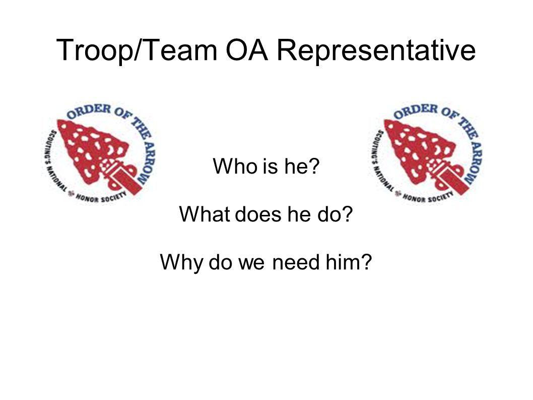 Troop/Team OA Representative Who is he What does he do Why do we need him