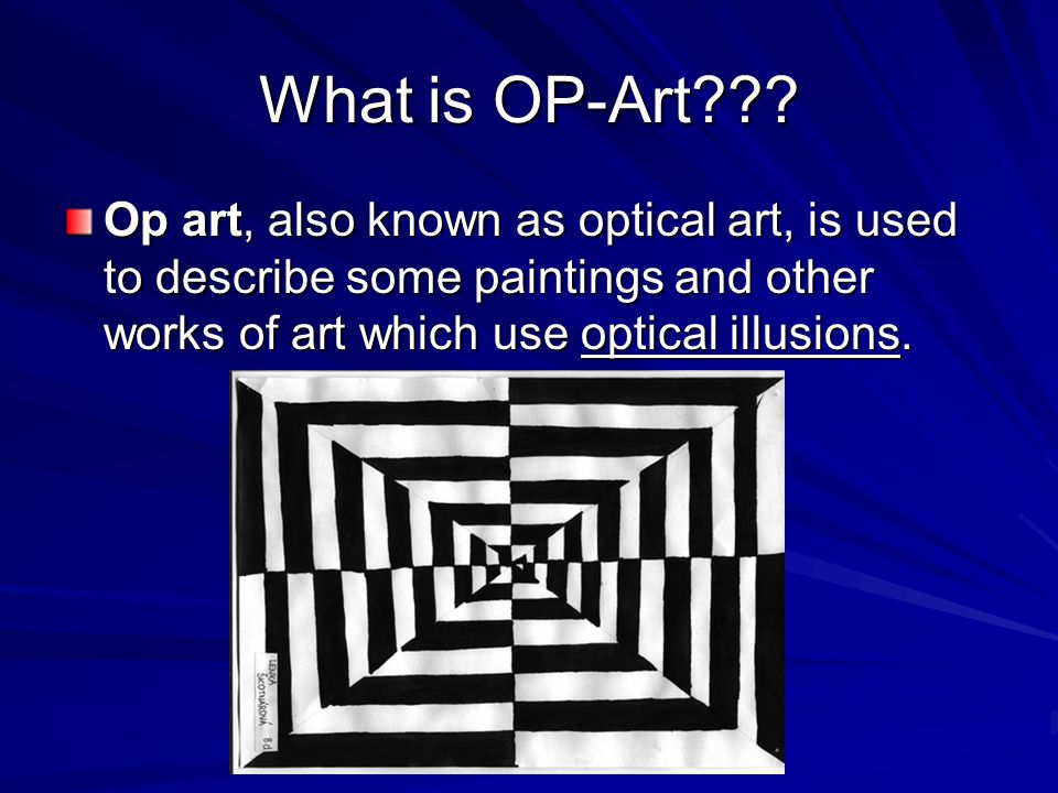 What is OP-Art??.
