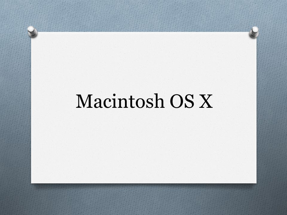 Mac OS X - Formatting Disks O Macintosh computers can read and write either Mac-formatted or PC- formatted disks.