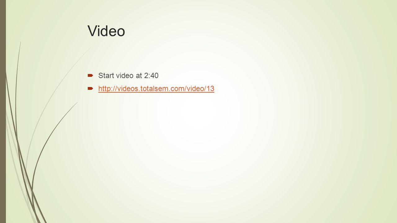 Video  Start video at 2:40  http://videos.totalsem.com/video/13 http://videos.totalsem.com/video/13