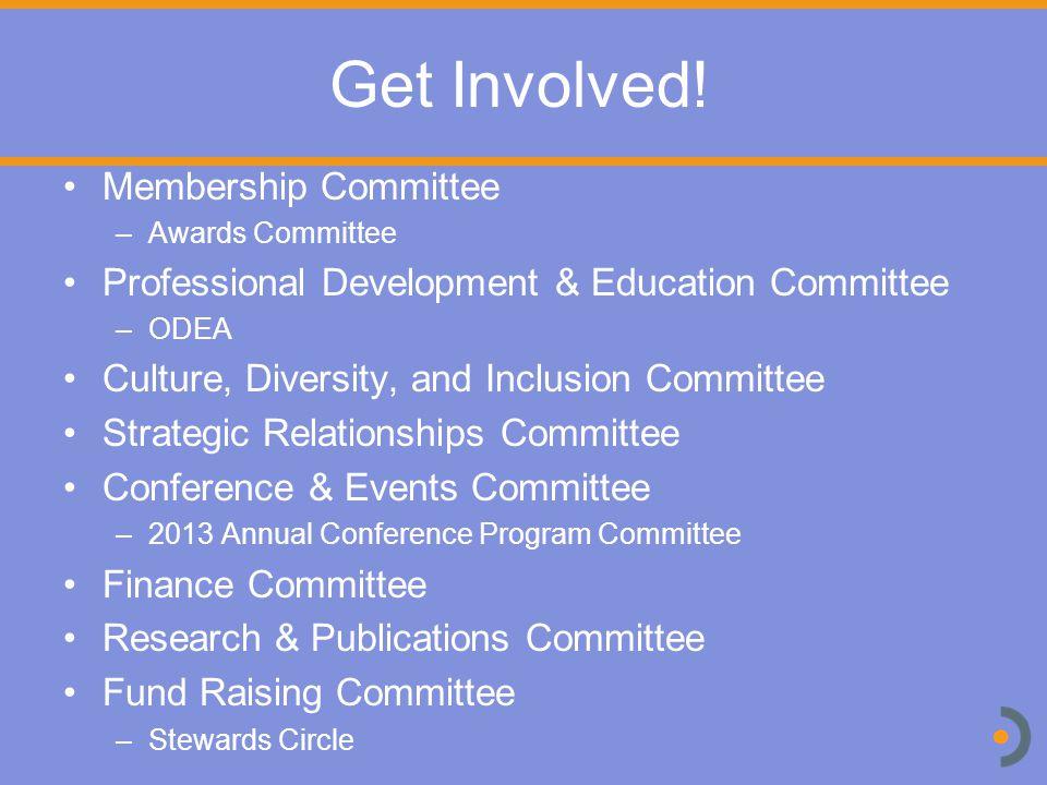 Get Involved.