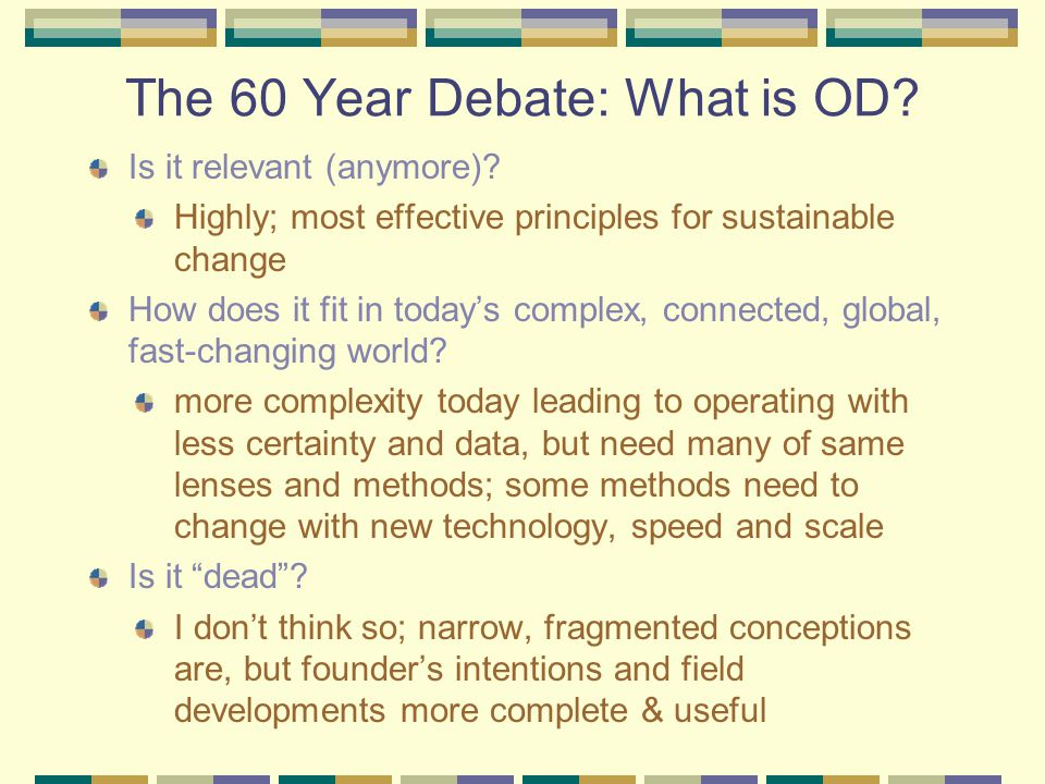 The 60 Year Debate: What is OD. Is it relevant (anymore).