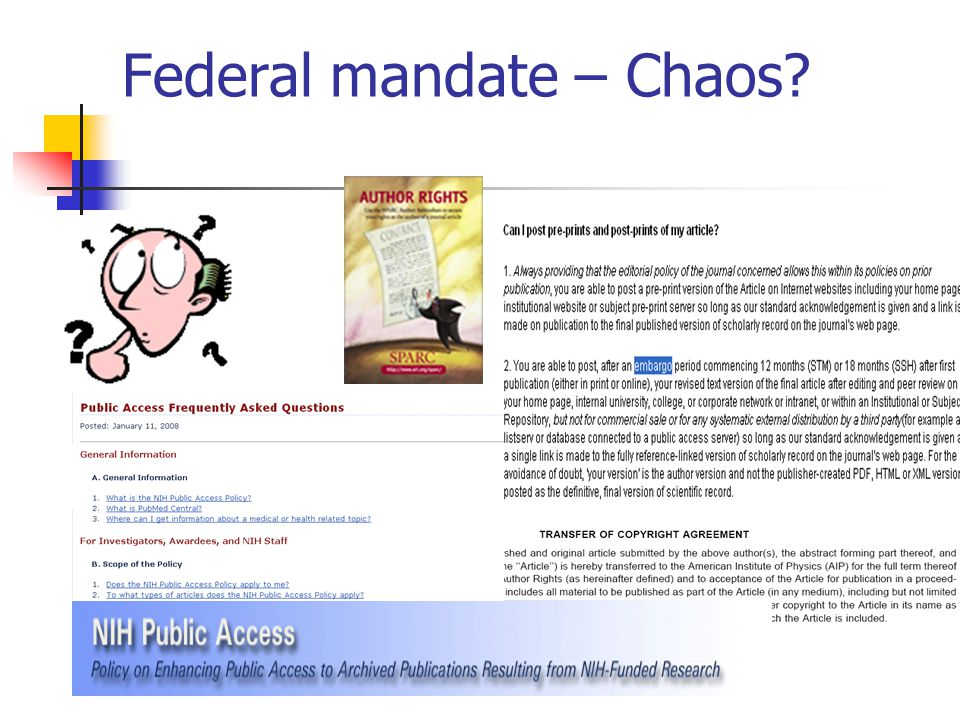 Federal mandate – Chaos?