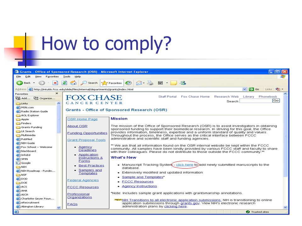 How to comply?