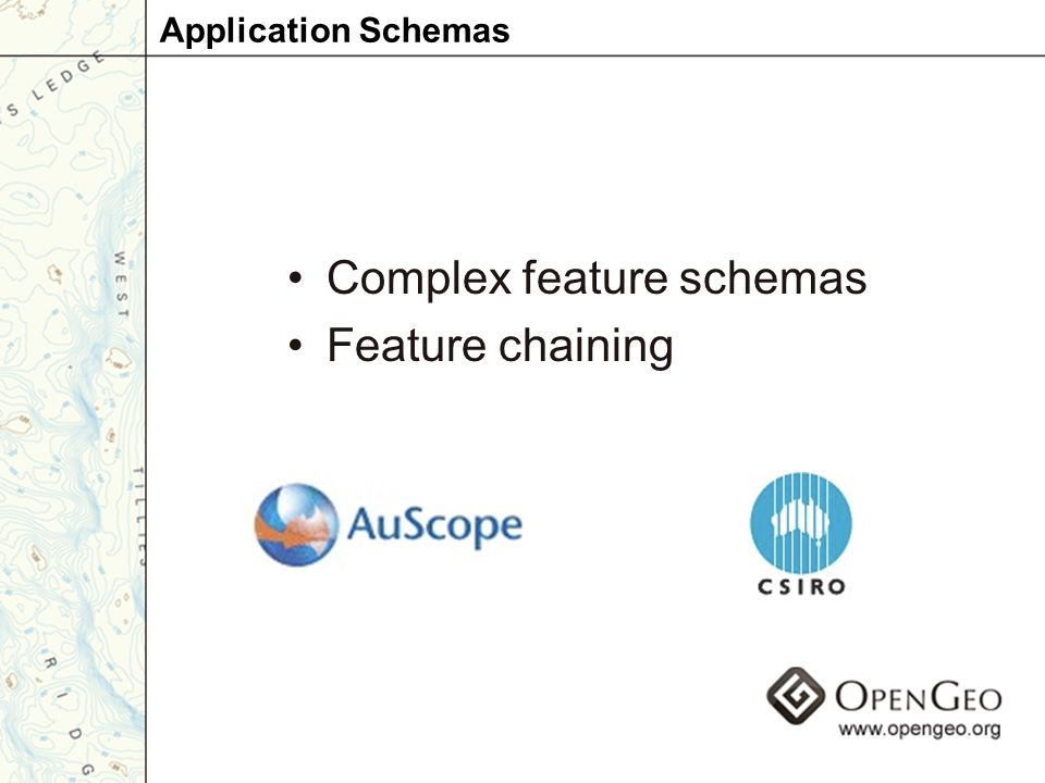 Complex feature schemas Feature chaining Application Schemas
