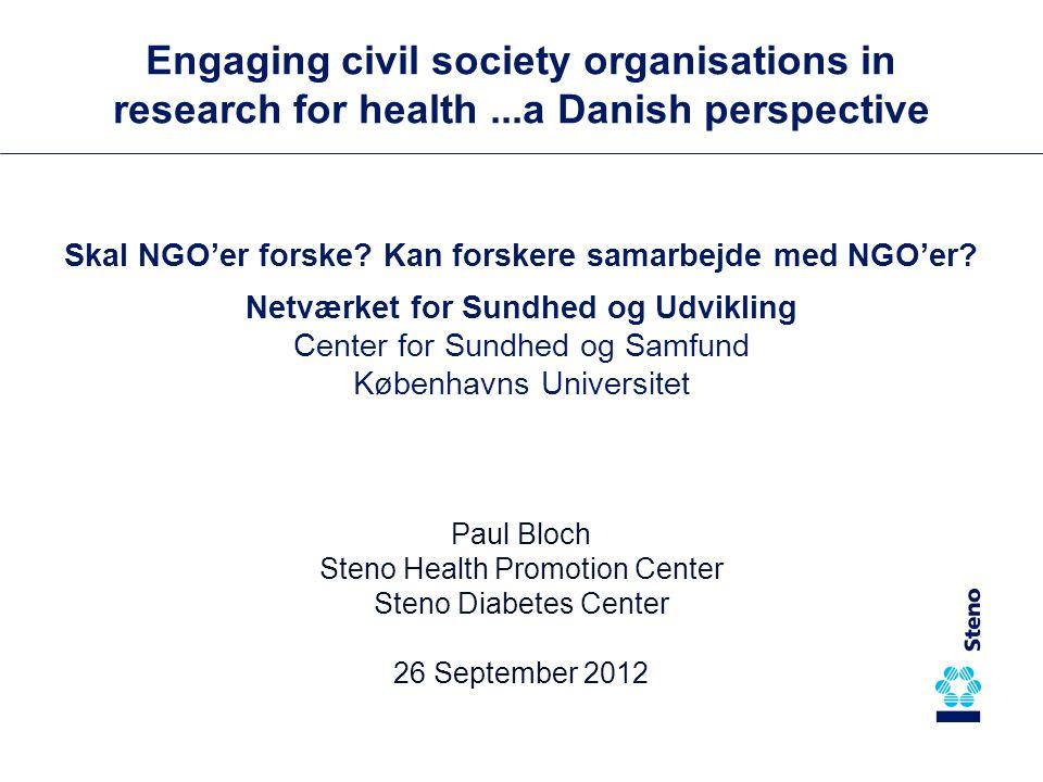Skal NGO'er forske. Kan forskere samarbejde med NGO'er.