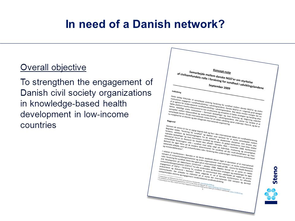 In need of a Danish network.