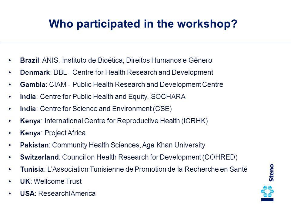 Any interest among Danish NGO's.