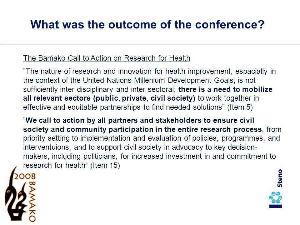 Danida's guidance note on research for health Address the priority health problems of poor people Danida supports: 1.