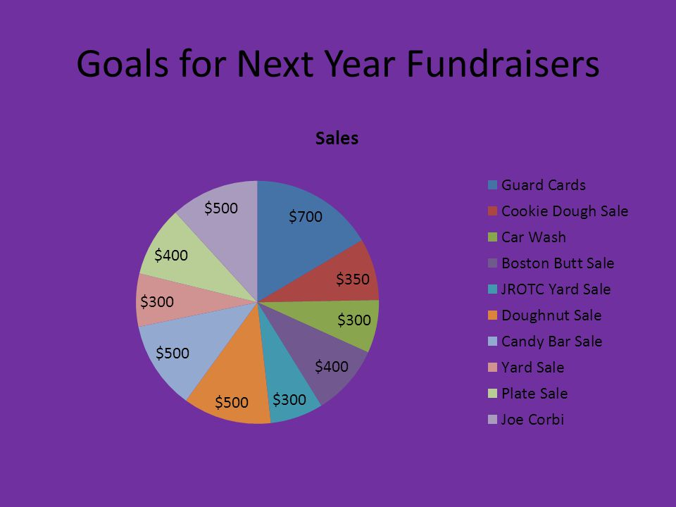 Goals for Next Year Fundraisers