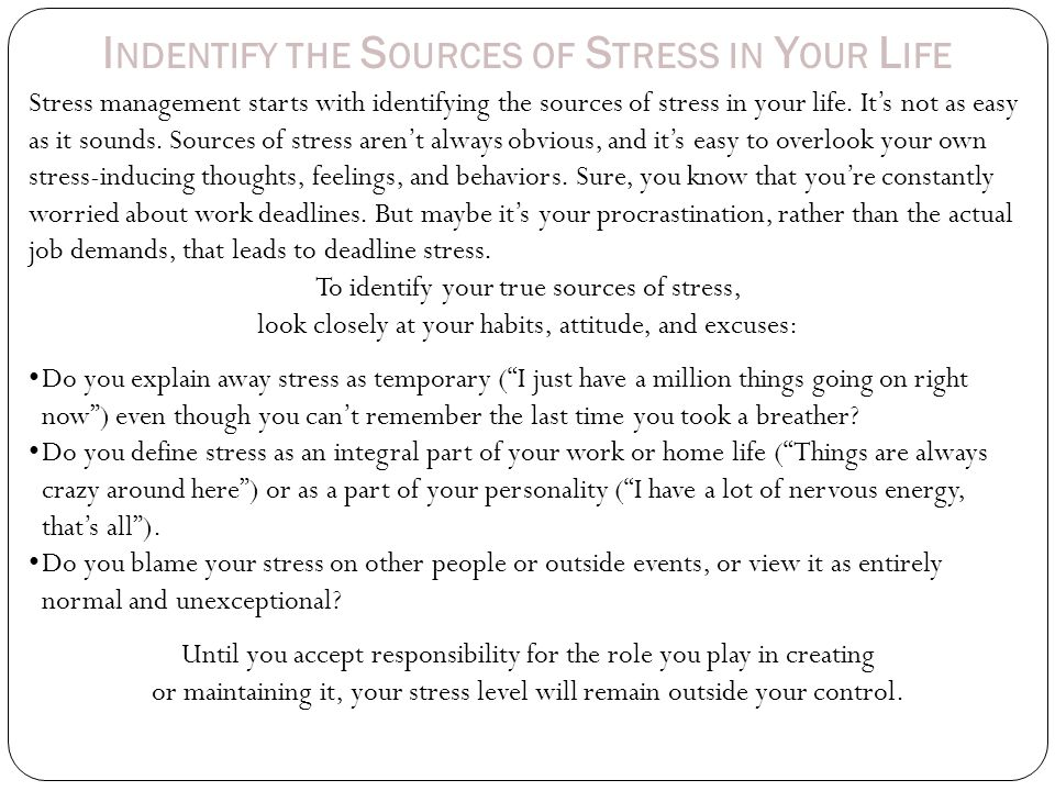 L OOK AT HOW YOU CURRENTLY COPE WITH STRESS 1.Think about the ways you currently manage and cope with stress in your life.