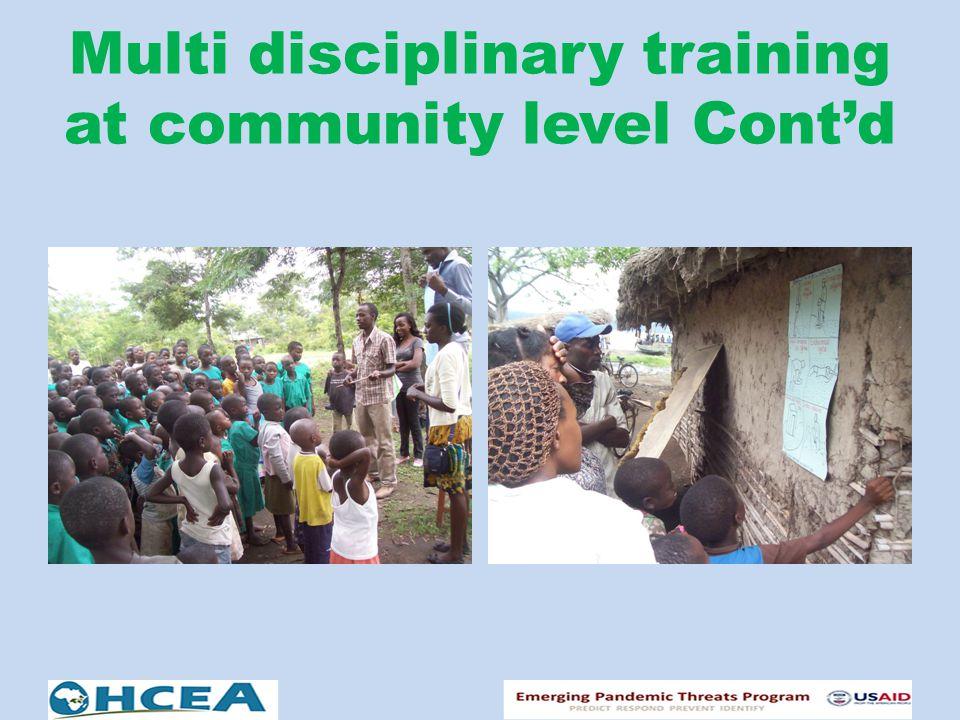 Multi disciplinary training at community level Cont'd