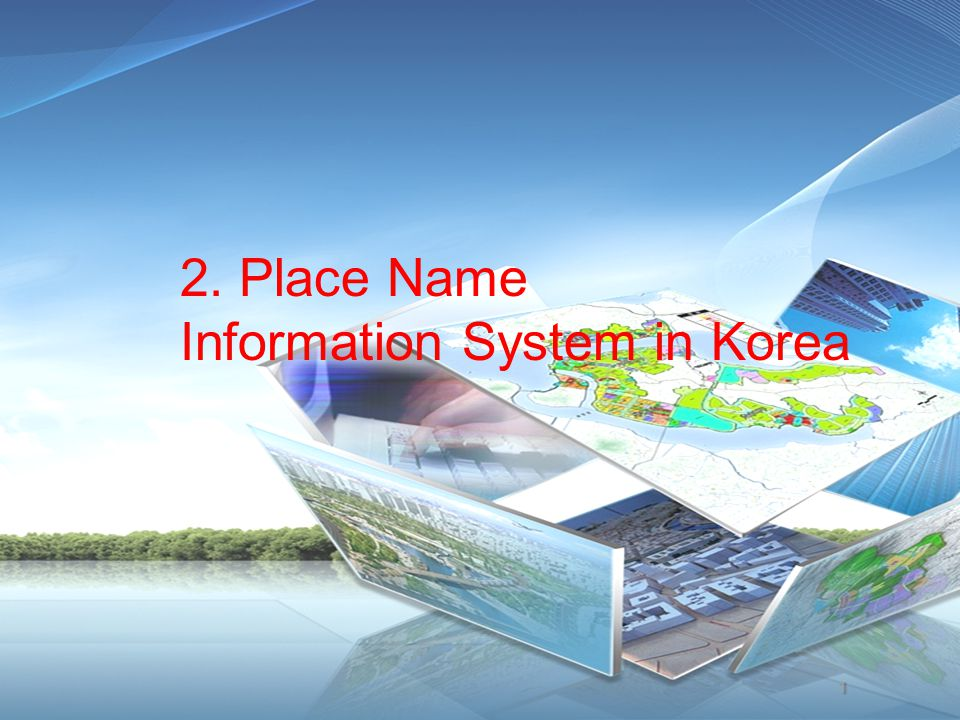 2. Place Name Information System in Korea