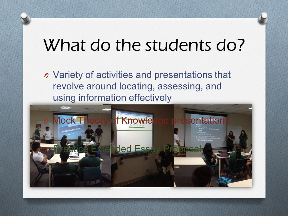 What do the students do.