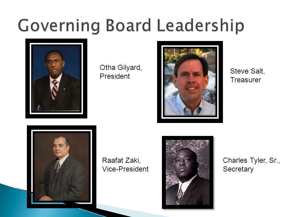 Otha Gilyard, President Steve Salt, Treasurer Raafat Zaki, Vice-President Charles Tyler, Sr., Secretary
