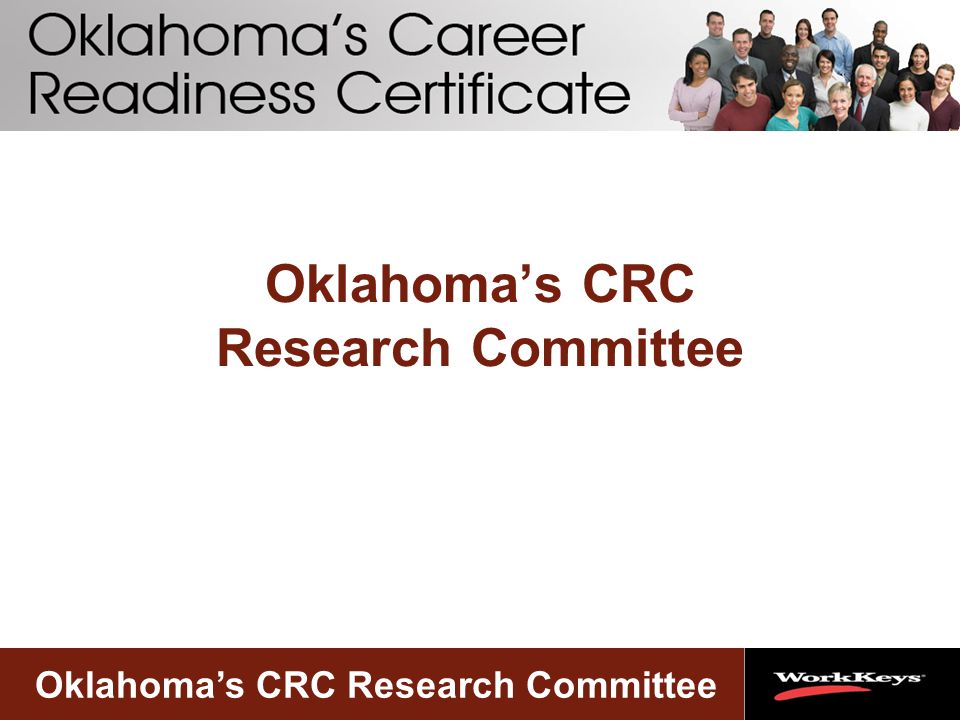 Oklahoma's CRC Research Committee