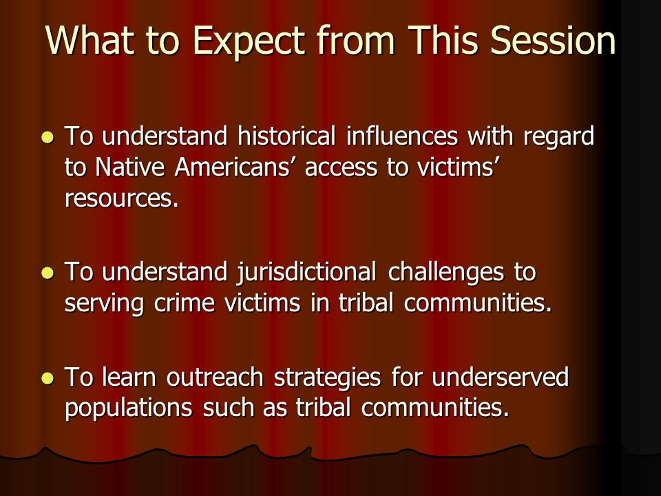 Understanding historical influences with regard to Native Americans' access to victims' resources