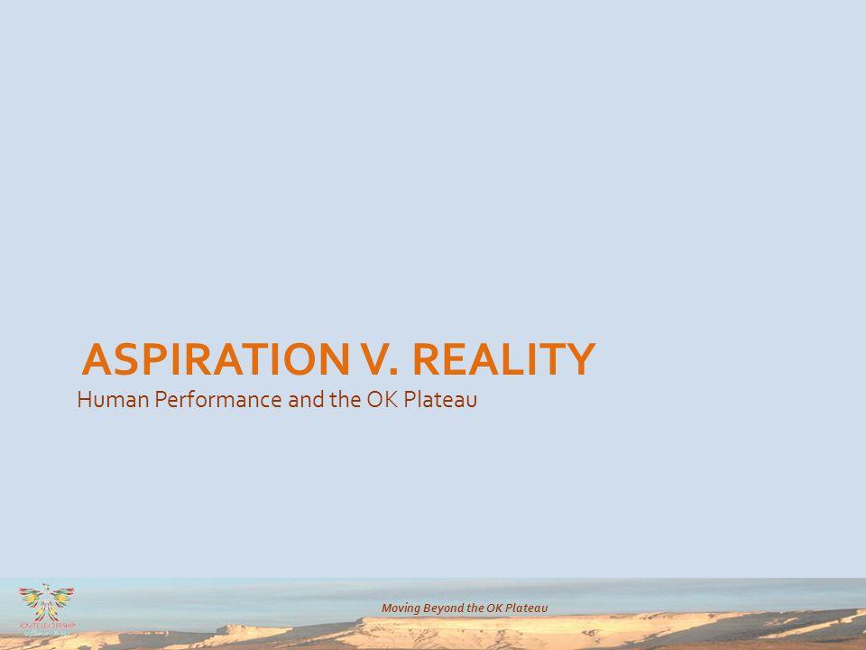 Moving Beyond the OK Plateau ASPIRATION V. REALITY Human Performance and the OK Plateau