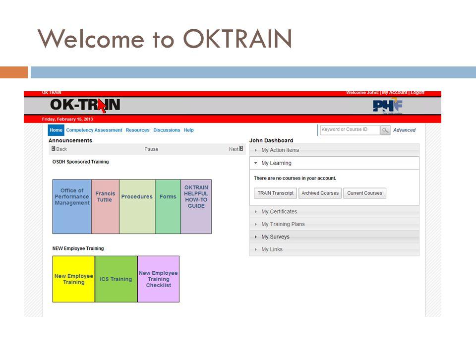 Welcome to OKTRAIN