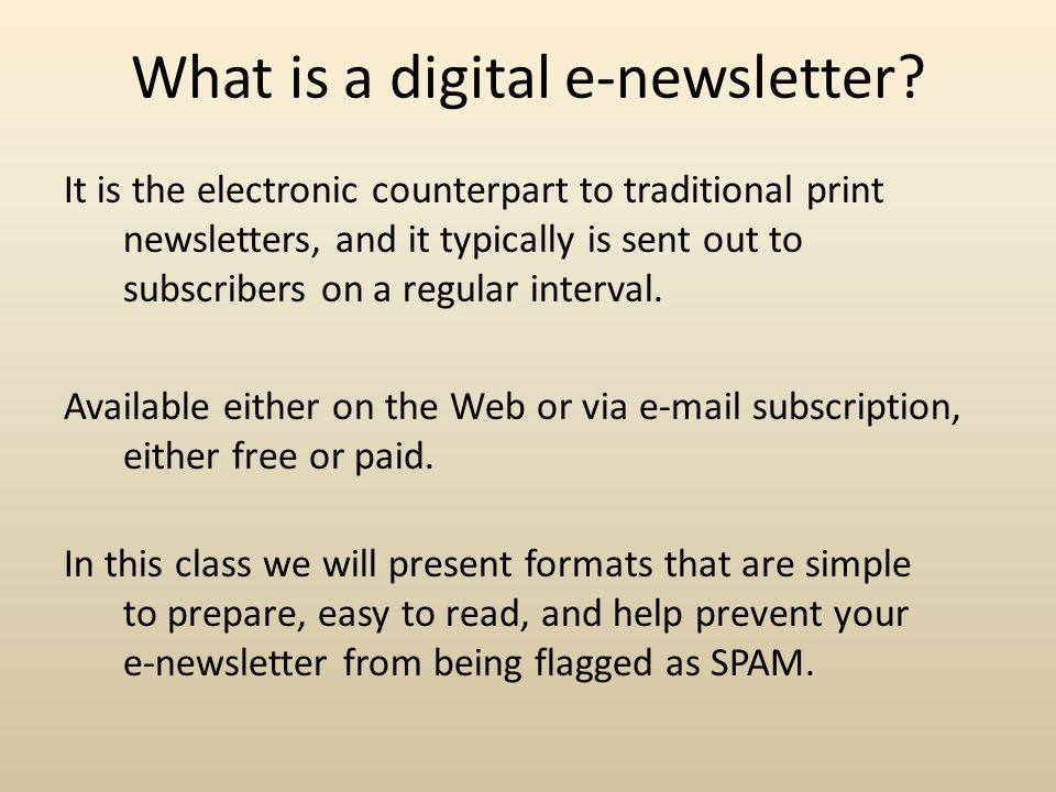 What is a digital e-newsletter.