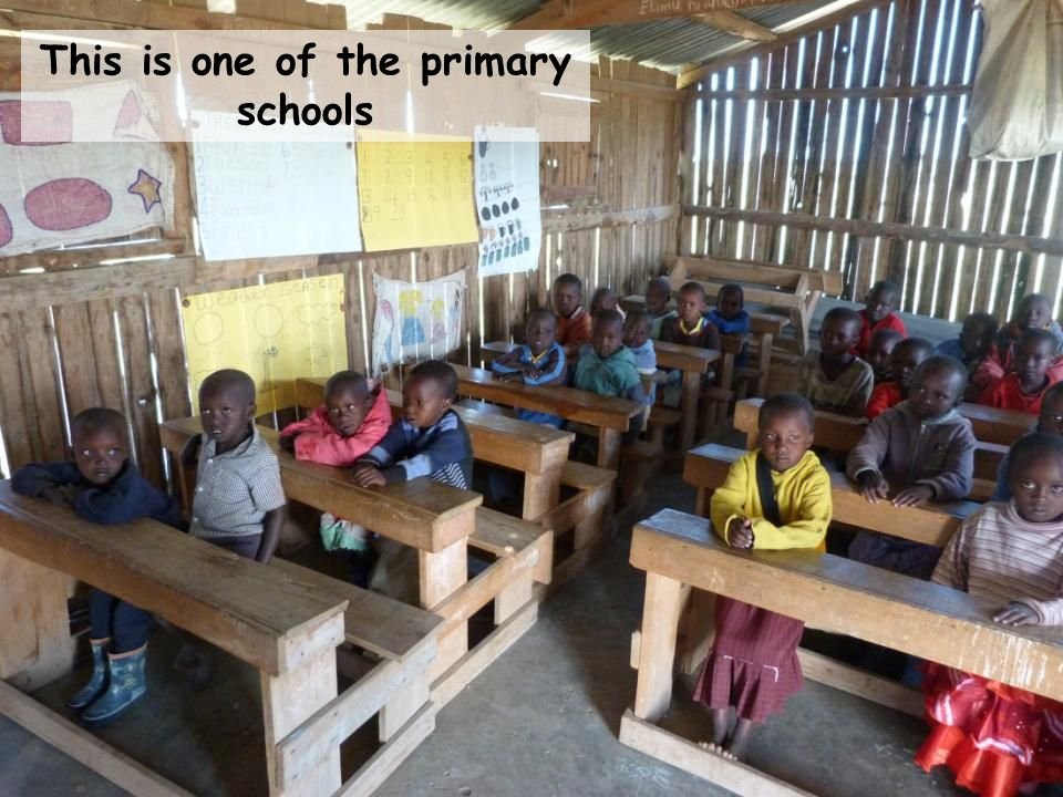 There are schools in the middle of nowhere where children learn with very few resources This is one of the primary schools