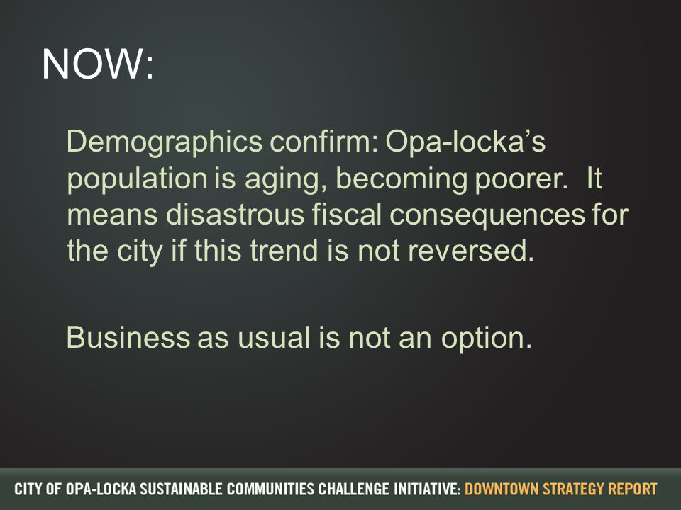 NOW: Demographics confirm: Opa-locka's population is aging, becoming poorer.