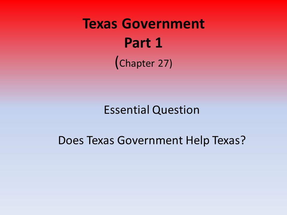 Texas Courts, con't 2.County Courts – Handle appeals by lower courts Appeal: request to have case heard again 3.District Courts – Tries Felony Cases Felony: serious crime (like murder, rape, kidnapping, etc) 4.Courts of Appeal 5.Texas Supreme Court (most powerful court in Texas)