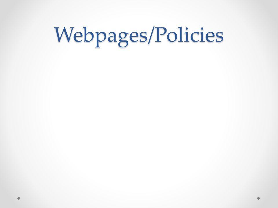 Webpages/Policies