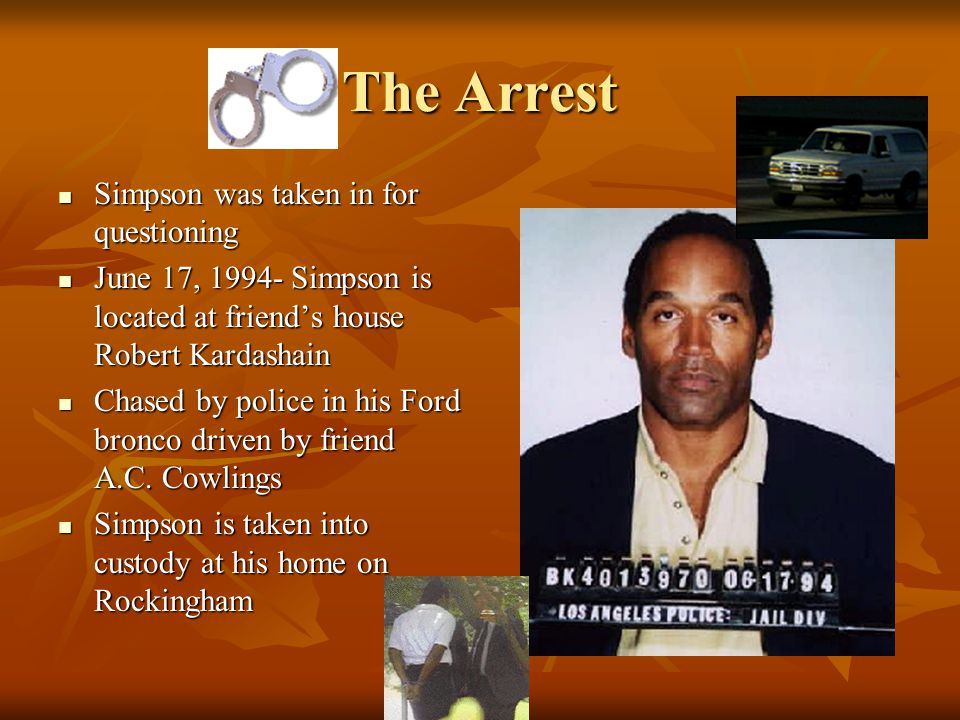 The Investigation Phillip Vannatter, Ronald Phillips, Tom Lange, and Mark Fuhrman were the police officers to search the premises. Phillip Vannatter,