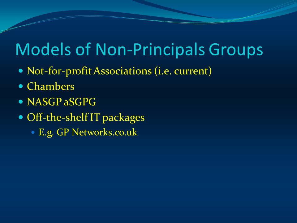 Models of Non-Principals Groups Not-for-profit Associations (i.e.