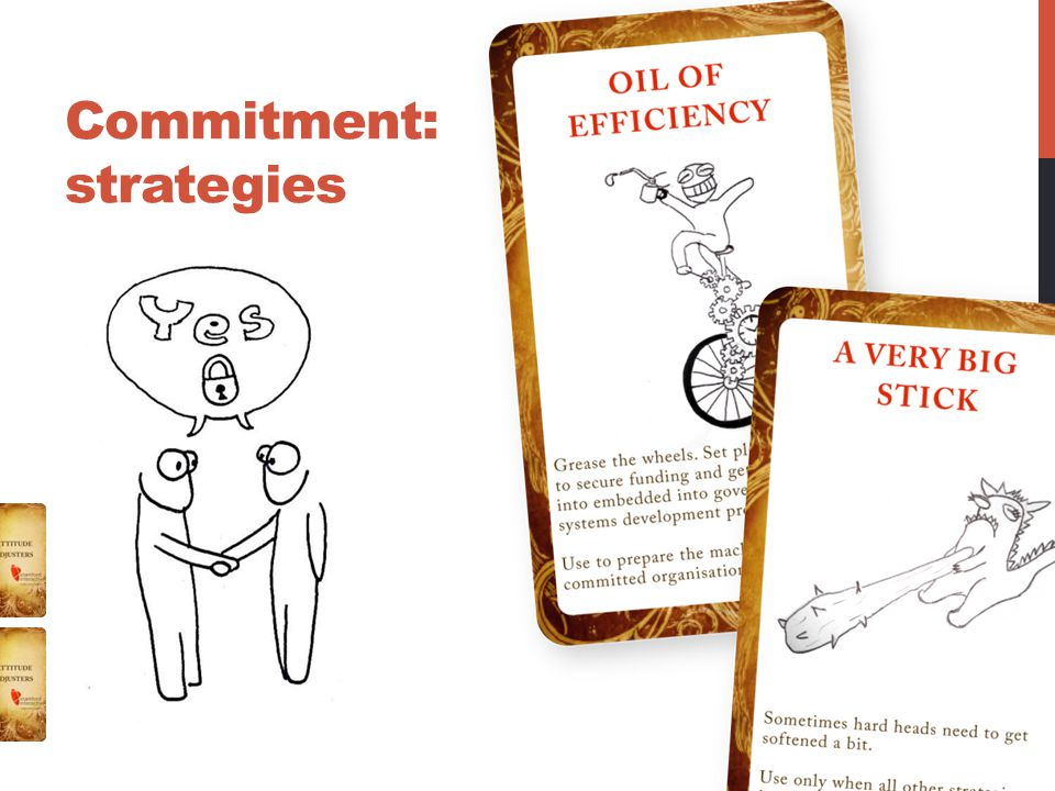 Commitment: strategies
