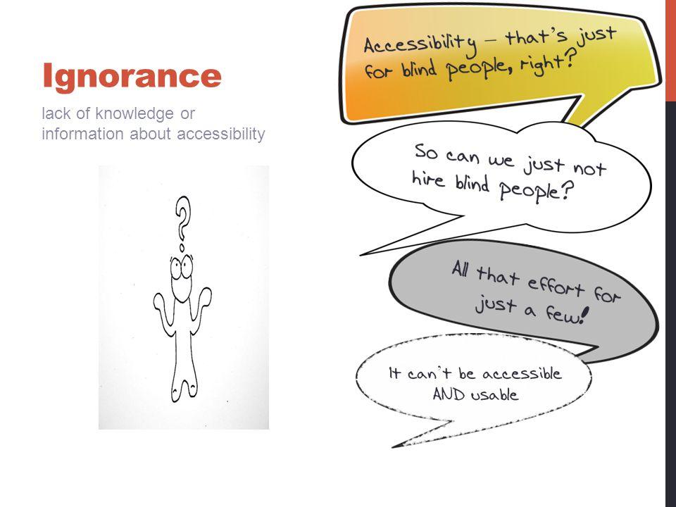 Ignorance: strategies