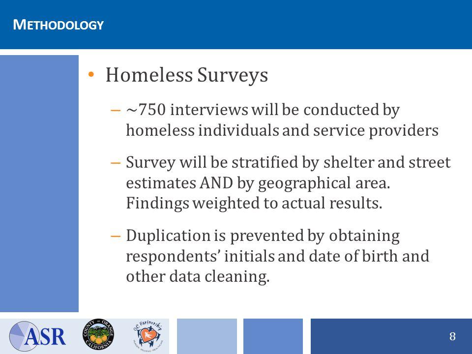 19 2011 Orange County Homeless Survey