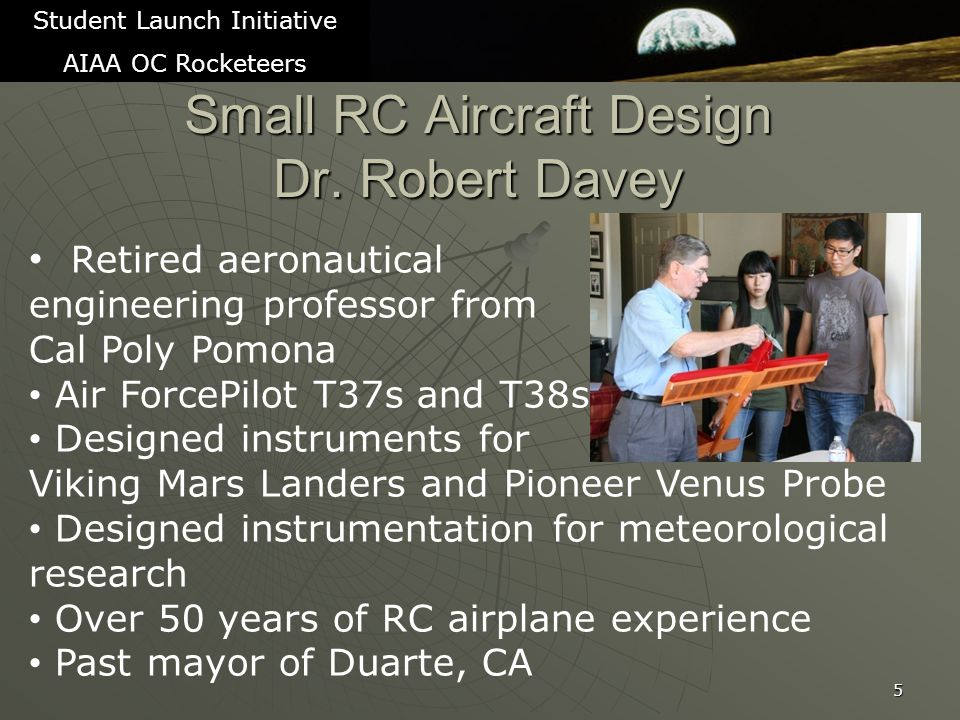 Educational Outreach 36 Student Launch Initiative AIAA OC Rocketeers Space 2011 Education Alley (Sept – too early for credit) Girl scout workshop and launch outing in October/November 2011 Giving presentation to AIAA professional society council meeting with all AIAA members in Orange County invited in 2012 Newspaper articles Article in Sunny Hills High School (Fullerton, CA) school paper Try for article in the Orange County Register Try for article in local paper in Orange, CA – The Foothills Sentry Presentations at Orange County 4H clubs Contact Discovery Science Center for youth booth Youth Expo at the Orange County Fair Grounds