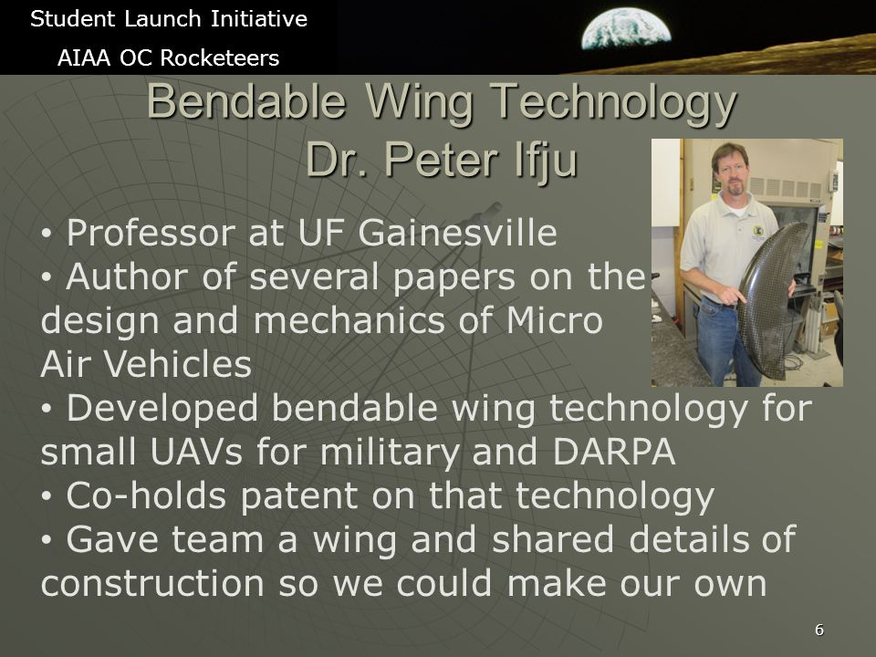 Bendable Wing Technology Dr.